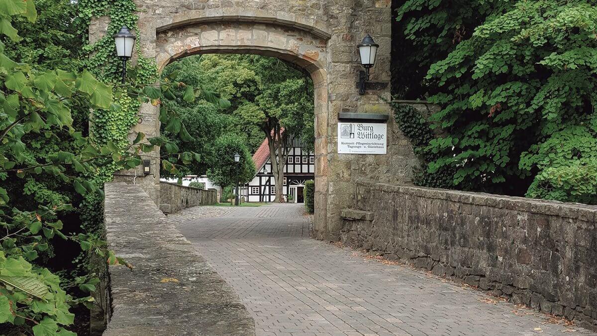 Burgtor der Burg Wittlage